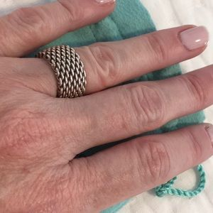 Tiffany & Co. Jewelry - Tiffany's Mesh Ring- Silver